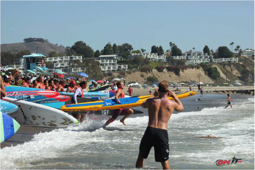 Although it was a sprint paddle, being a fast runner helped, especially when there were 15 people on 1 wave coming in, and only 10 qualified.