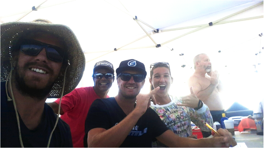 Guest judges at the Nkamakai youth SUP event. These kids were ripping!
