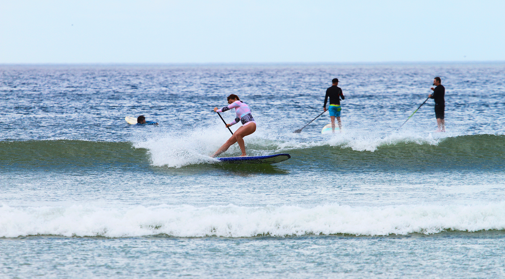 Tarryn with a massive frontside snap, on a tiny wave. Gotta love that speed!